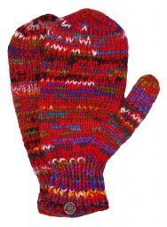 Fleece lined mittens - Electric - Red