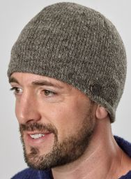 Easy beanie - fully lined - plain marl brown
