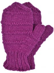 Children's fleece lined - ridge mittens - magenta