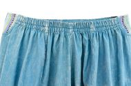Gheri edge - heavy cotton - stone washed harem - aqua