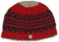 Pure new wool beanie - Garva - Red