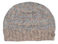 NAYA pure wool - breeze beanie - grey/brown