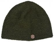 Airman's beanie  - pure new wool - dark green