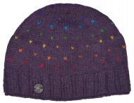 Rainbow tick beanie - grape