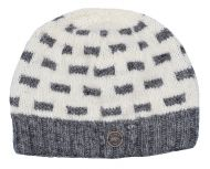 NAYA pure wool - breeze beanie - mid grey/white