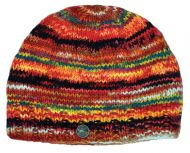 Electric Stripe Beanie - Orange