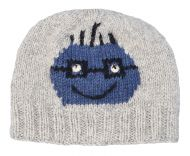 Face beanie - pure wool - hand knitted - fleece lining - Henry