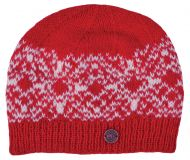 Snow Pattern Beanie - Red