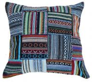 Filled cushion - stonewash cotton - Gheri Patchwork with cushion Pad