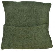 Cushion Cover - Cotton Gheri front - Cover Olive Green