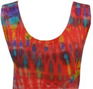 Side tie - tie dye top - red