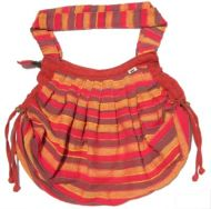 Red/Orange - Striped -  Expandable Cotton Bag