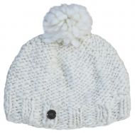 Hand knit -Pure soft wool bobble hat - Cream Sparkle