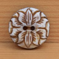 10 petal flower - hand worked - button