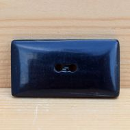 Large rectangular - hand worked - horn button
