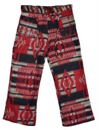 Soft blanket Trousers - Red/Black Pattern