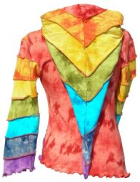 Pixie Hood - Overlocked Pullon - Rainbow