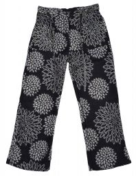 Soft blanket Trousers - Black Flower
