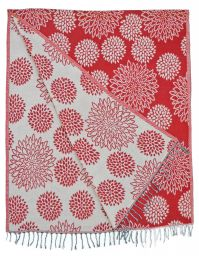 Chrysanthemum - Blanket/shawl - Red