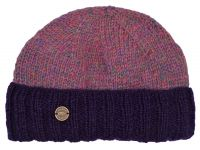 Hand knit - watchman s beanie - Heather purple e1c3702419dd