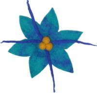 Large Poinsettia brooch - blue