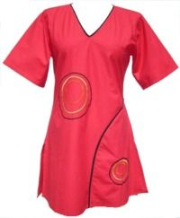 ***SALE*** - Short Sleeved Cotton Tunic With Circles