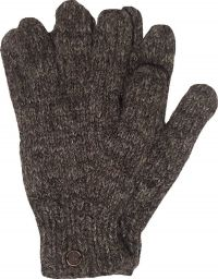Fleece lined - pure wool gloves - Marl Brown