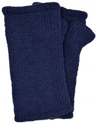 Children's Fleece Lined plain Wristwarmers - Blue