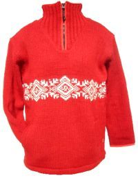 Fleece lined -frieze pull on - Red