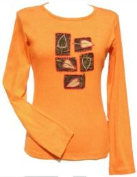 ***SALE*** - Five Leaf - Top - Orange with Black Squares