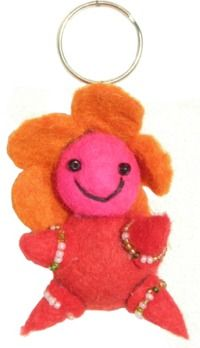 Flower Baby - Key Ring - Red Body