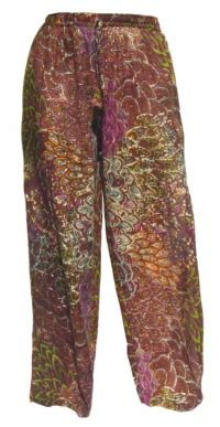 Peacock Trousers - Maroon