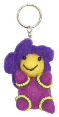 Flower Baby - Key Ring - Purple Body