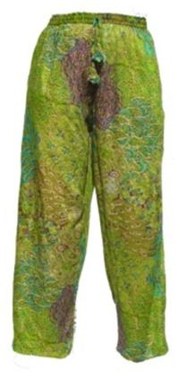 Peacock Trousers  -  Lime Green