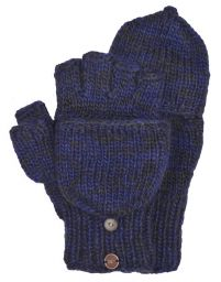 two tone mitt - Blue Smoke
