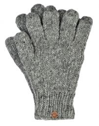 Fleece lined - pure wool gloves - Mid Grey