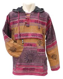 Sharma stonewashed printed pull on - mustard