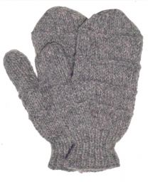 Fleece lined mittens  - Ridge - Mid Grey