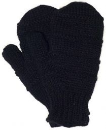 Fleece lined mittens - Ridge - Black