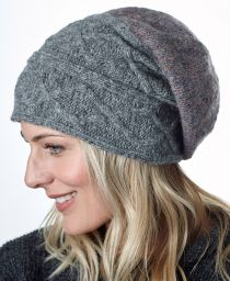 Fjord slouch - mid grey/pale heather