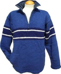 pull on - broad stripe - Blue