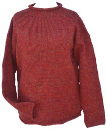 hand knit jumper -  heather - Rust