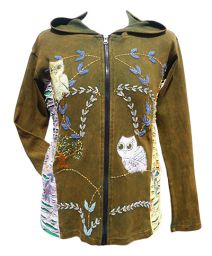 ***SALE*** - Owl Jacket - Olive Green