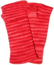 Fleece lined wristwarmer - electric - Red