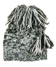 Pure wool - shaggy tie top hat - Green