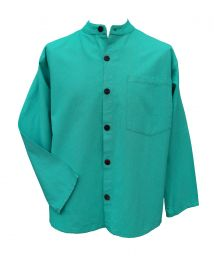 NEW SEASON - Full buttoned - plain shirt - turquoise/blue