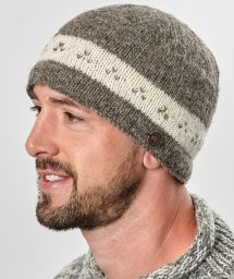 classic - triple tick beanie - soft brown