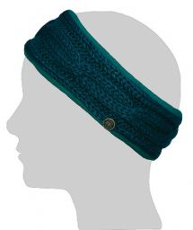 Fleece lined headband - cable - Teal