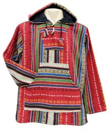 Open weave - gheri cotton - pullon - red