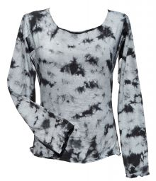 Tie Dye - Anytime - long sleeve top - Grey